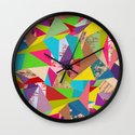 Colorful Thoughts Wall Clock