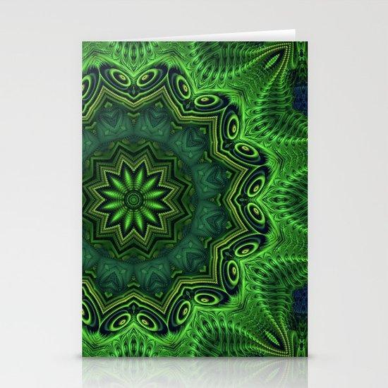 Harmony in Green Stationery Card