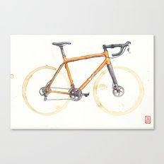 Coffee Wheels - Salsa Warbird Canvas Print