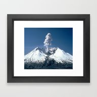 Mount St. Helens 🌋 Vo… Framed Art Print
