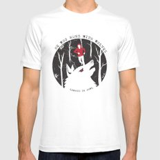 Sterek: He Who Runs With Wolves SMALL White Mens Fitted Tee