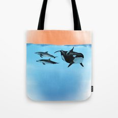Orca and Dolphin Tote Bag