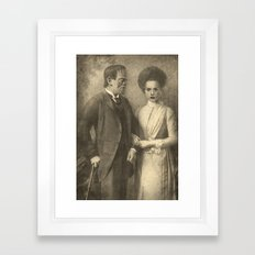 Mr. and Mrs. Frankenstein  Framed Art Print
