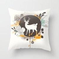 Hi Deer ! Throw Pillow