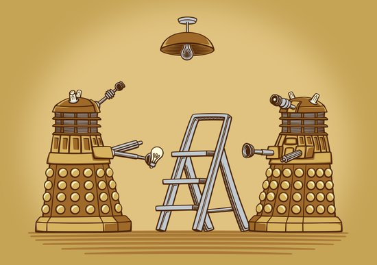 Dalek DIY Canvas Print