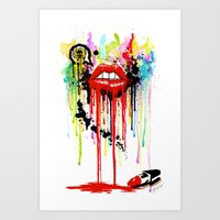 Poison Lips Art Print