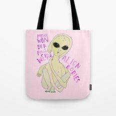 More wonderfully weird alien bodies Tote Bag