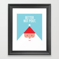 Christmas Better Not Pou… Framed Art Print