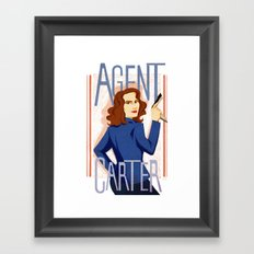 Agent Carter Framed Art Print
