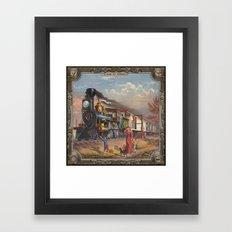 Locomotive. Age Of Steam… Framed Art Print