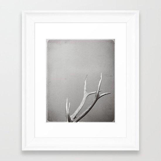 fig. 01 | antlers Framed Art Print
