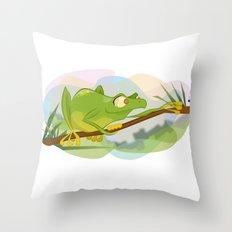 Tree Frog Throw Pillow