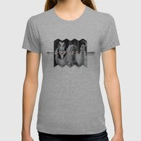 Forced Love Womens Fitted Tee Athletic Grey SMALL