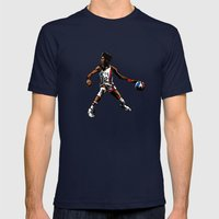 DR. J: On the Offensive Mens Fitted Tee Navy SMALL