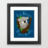 Live Sleep, Die...Digest… Framed Art Print