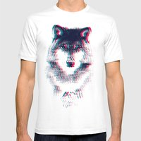 Act Like A Wolf.  Mens Fitted Tee White SMALL
