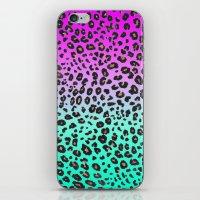 TEAL & PINK LEOPARD  iPhone & iPod Skin