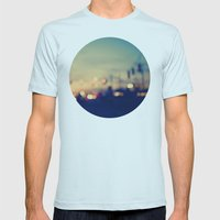 We're only young once Mens Fitted Tee Light Blue SMALL