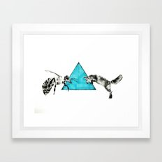 Headlock, wasp and fox Framed Art Print