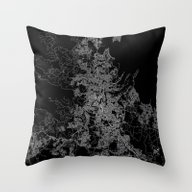 Brisbane Map Australia Throw Pillow