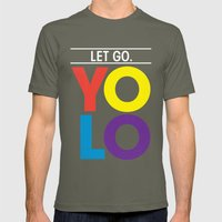 YOLO: Let Go. Mens Fitted Tee Lieutenant SMALL