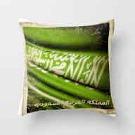 Throw Pillow featuring Grunge Sticker Of Kingdo… by Lulla