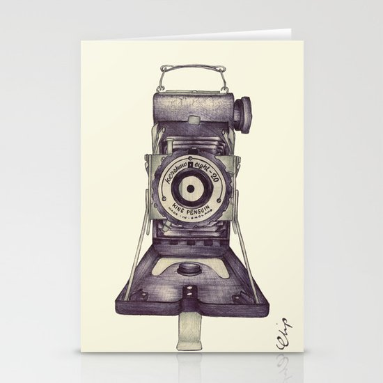 Kershaw Eight-20 King Penguin Stationery Card