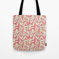 triangles color block in coral pink and orange Tote Bag