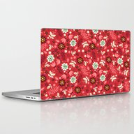 Fresh Blossoms (Reds) Laptop & iPad Skin