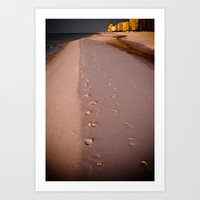 Morning Walk On The Beac… Art Print
