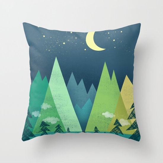 The Long Road at Night Throw Pillow