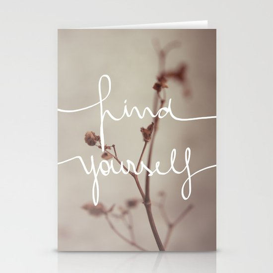Find Yourself Stationery Card