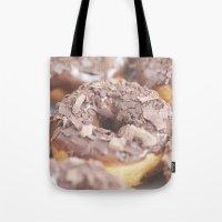 Chocolate Donuts Tote Bag