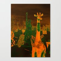 What in the giraffe Canvas Print