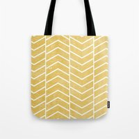 Yellow Chevron Tote Bag