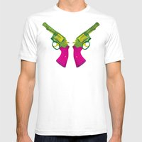 Play Guns Mens Fitted Tee White SMALL