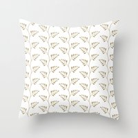 Tan Ferns Throw Pillow