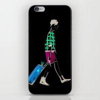 stylish girl walking iPhone & iPod Skin