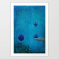 Under the Water/Above the Clouds Art Print