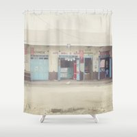 open for business::kenya Shower Curtain