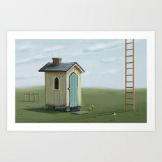 sky ladder Art Print