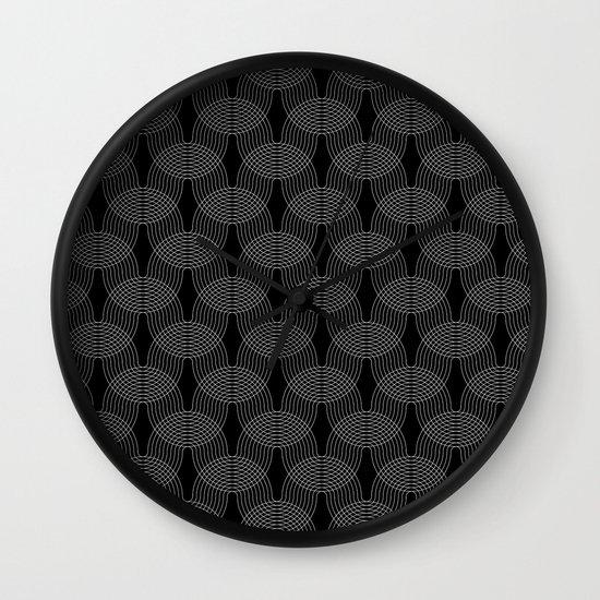 black undulation Wall Clock
