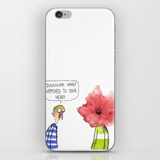 What Happened To Your Head? iPhone & iPod Skin