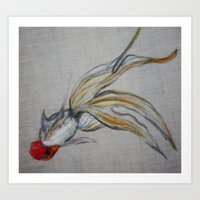 Goldfish Pond (close Up#… Art Print