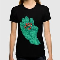 Sunset Nails Womens Fitted Tee Black SMALL