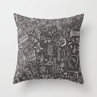My Brain Won't Stop Throw Pillow