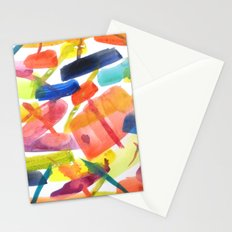 Abstract Brushstrokes Stationery Cards