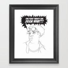 Black To The Future Framed Art Print