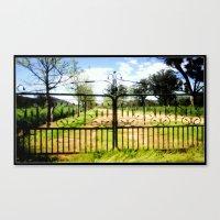 Gate way to a 20,000 acre Farm Canvas Print