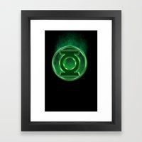 Green Lantern Spectre Framed Art Print